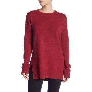 Abound Red Sweater with Side Slit
